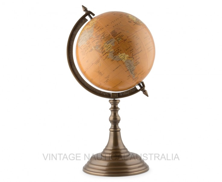 World Globe on Wooden Tripod Stand – Ant