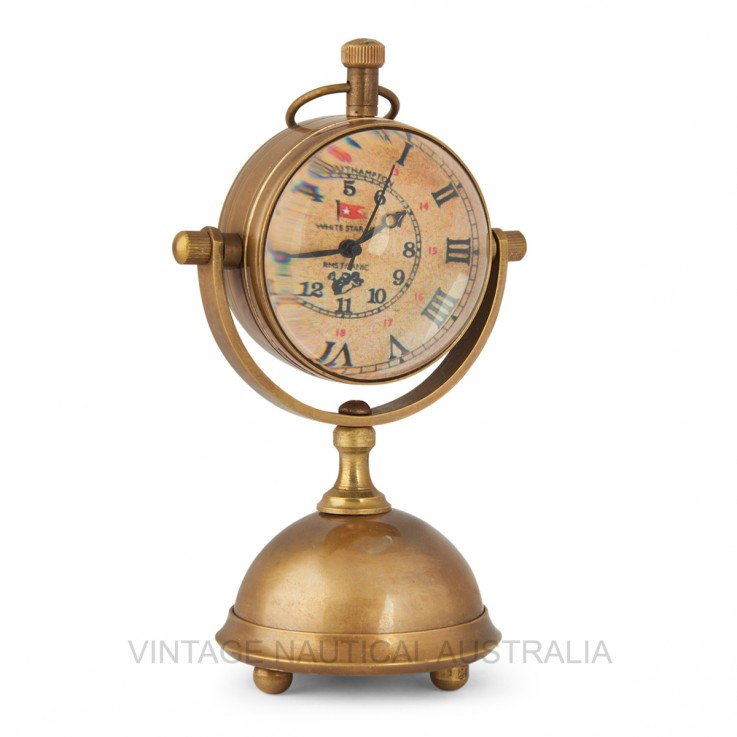 Table Clock – Brass Stand Antique Finish