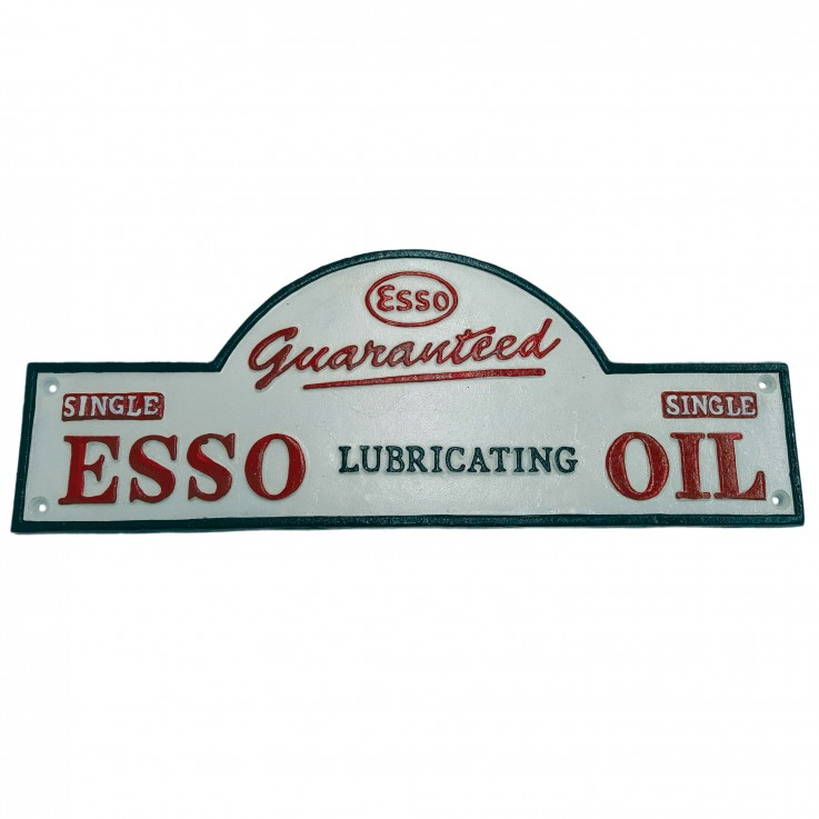 Esso Lubrication Domed wall Plaque