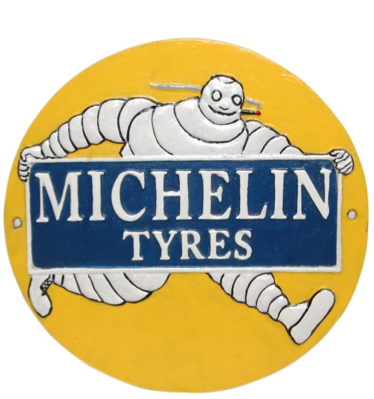 Michelin Smoking Wall Plaque