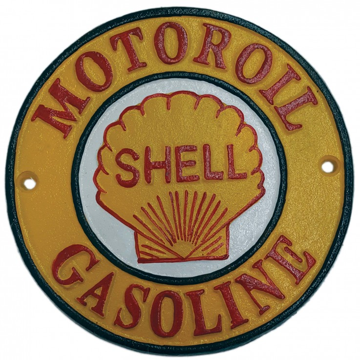 Motoroil Shell Gasoline Wall Plaque Roun
