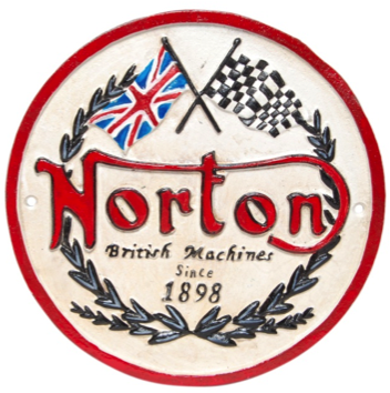 Norton Machines Wall Plaque Round