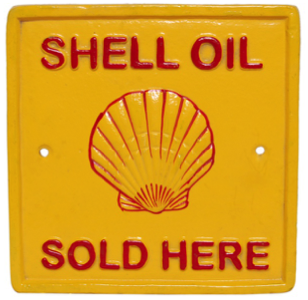 Shell Oil Sold Here Wall Plaque Sqaure