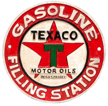 Texaco Motor Oils Wall Plaque Round