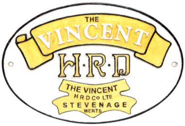 The Vincent HRD Wall Plaque Oval