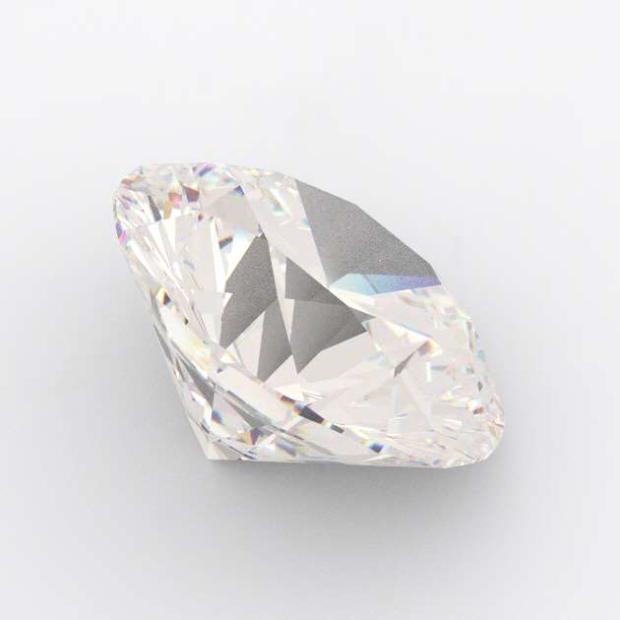 0.23 Carat Round Diamond K Colour VVS2 C