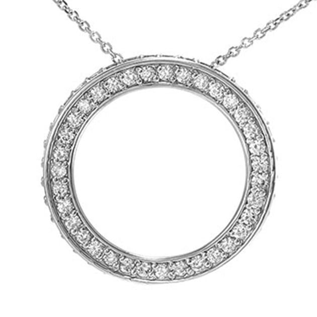 14K White Gold Circle Of Life / Circle