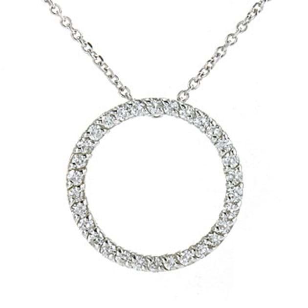14K White Gold Circle Of Life / Circle O