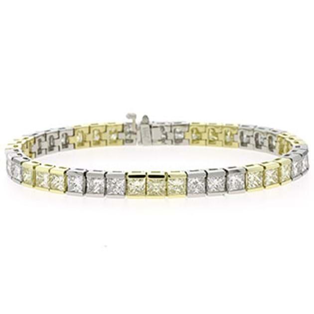 14K White Gold Diamond Tennis Bracelet 5