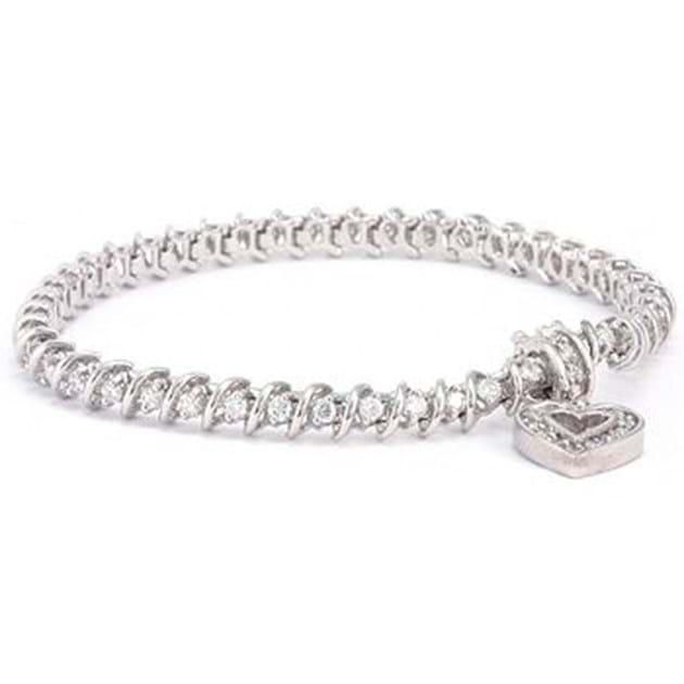 14K White Gold Elegant Diamond Bracelet