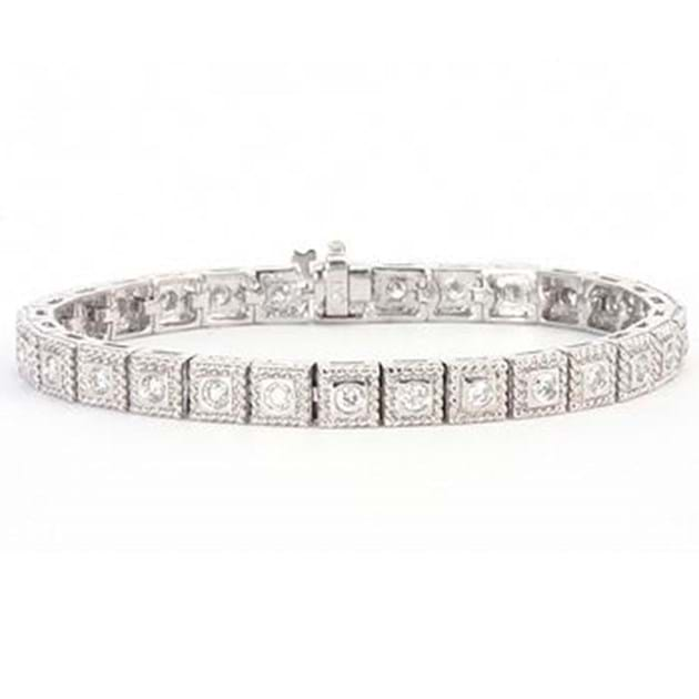14K White Gold Beautiful Diamond Bracele