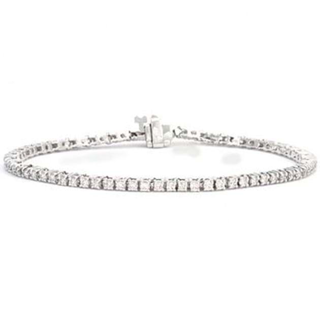 14K White Gold Diamond Bracelet 2.00 C