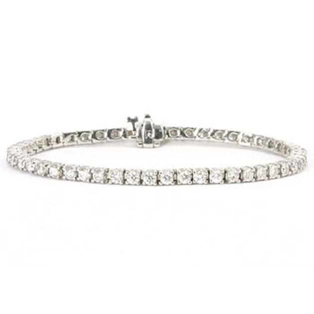 14K White Gold Diamond Bracelet 4.3 Cara