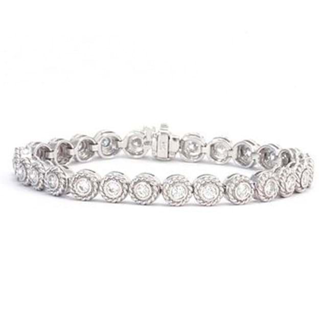 14K White Gold Stylish Diamond Bracelet