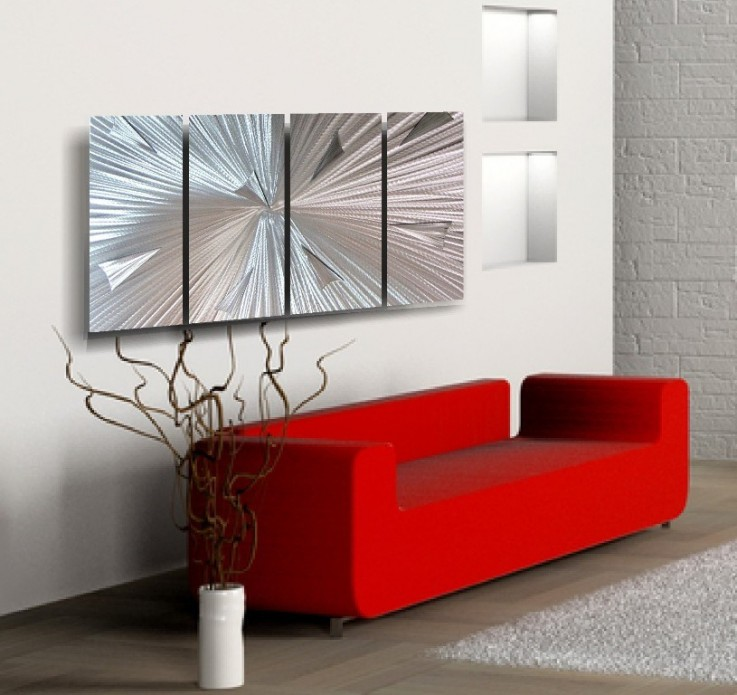 """Arctic Blast"" Aluminum Wall Art"