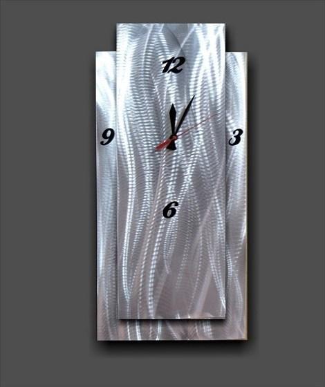 Funky Plain Metal Wall Clock