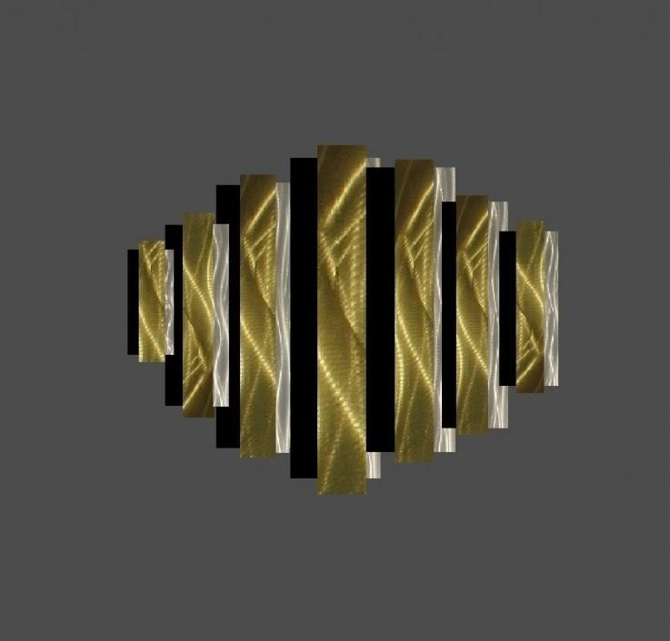 Gold Metal Wall Sculpture