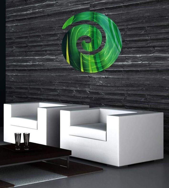 Green Koru Metal Art Work (Cutout)