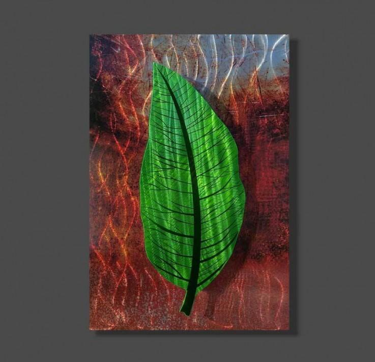 Green Metal Leaf