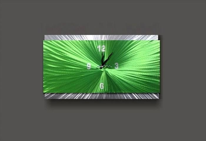 Green Wall Clock Rectangle