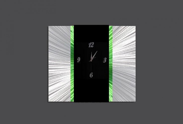 Large Decor Art Clock Green