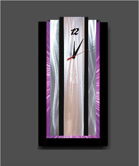 Large wall clock times apart Purple