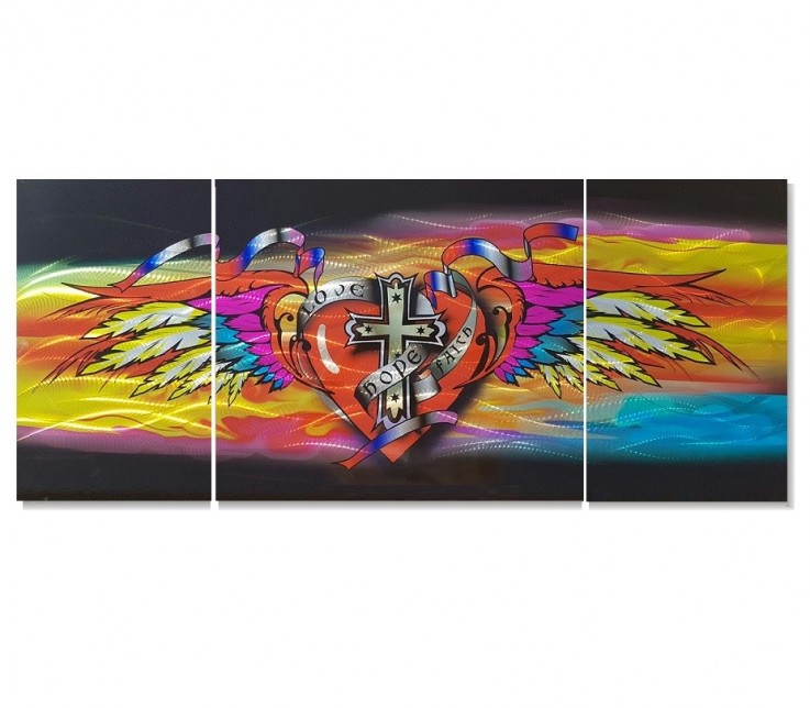 Love Hope Faith Metal Wall Arth