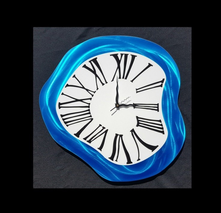 Melted Blue Wall Clock