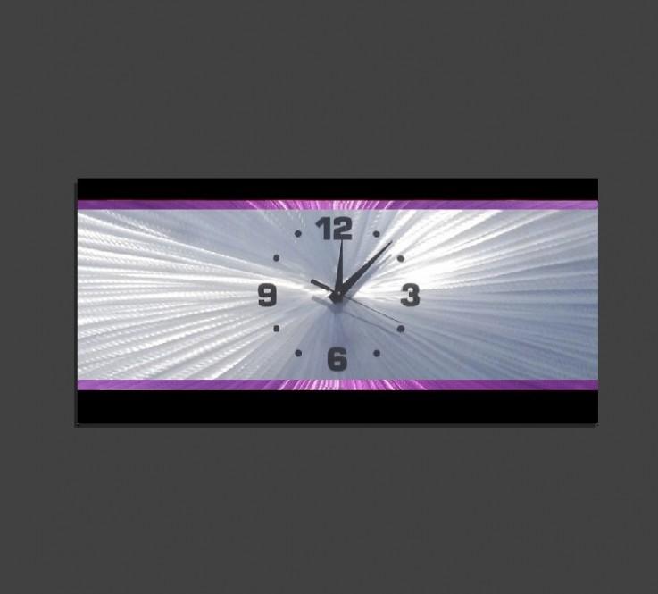Metal Wall Clock – Retro Purple