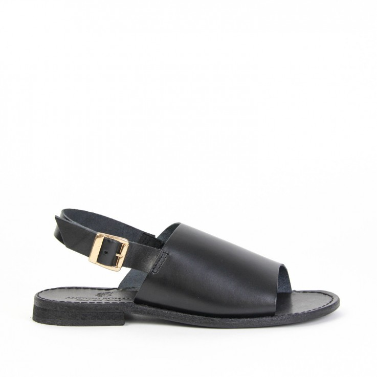 ANTICHI ROMANI 843 LEATHER SLIDE SANDAL