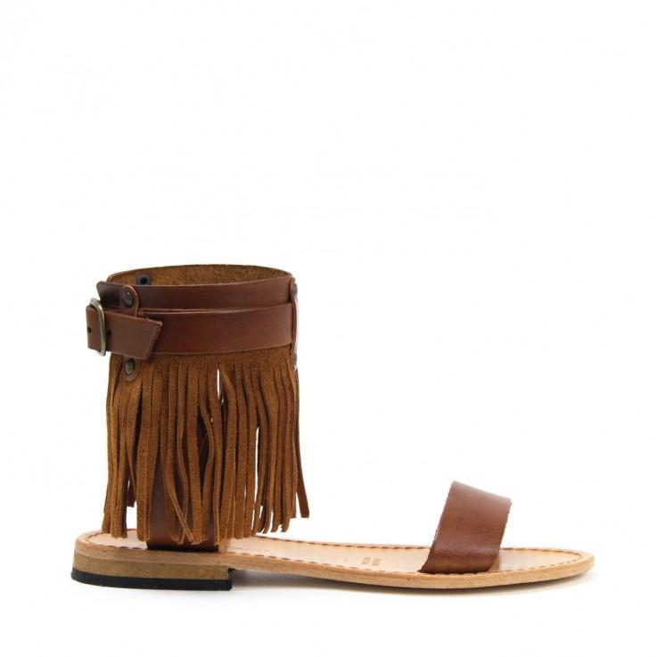ANTICHI ROMANI 621 SANDAL TAN  Leather