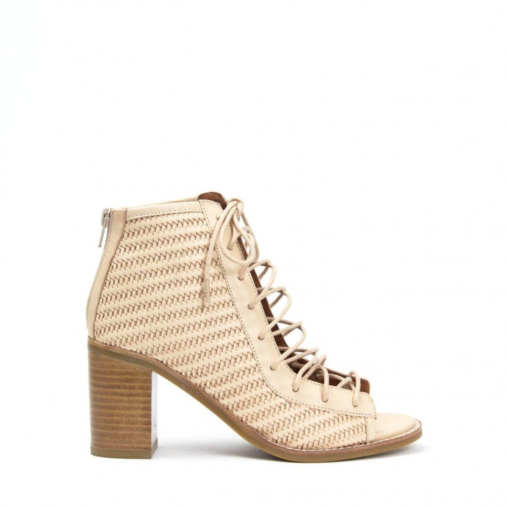 JEFFREY CAMPBELL CORS WEAVE LACE-UP BOOT