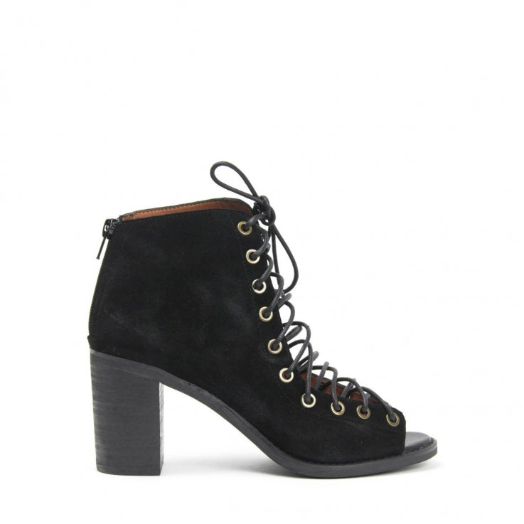 JEFFREY CAMPBELL CORS LACE-UP BOOT Black