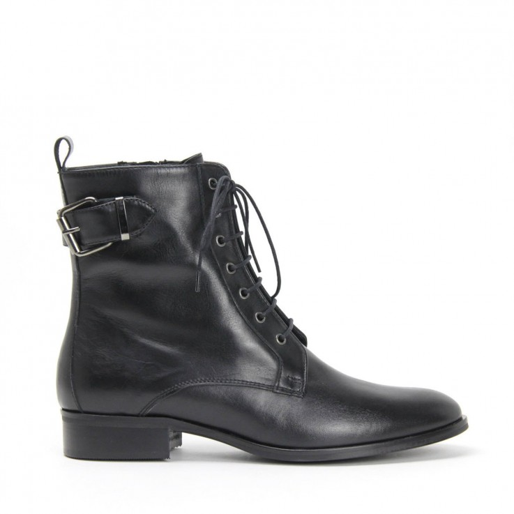 DENOUEE 6351 LACE UP ZIP BOOT