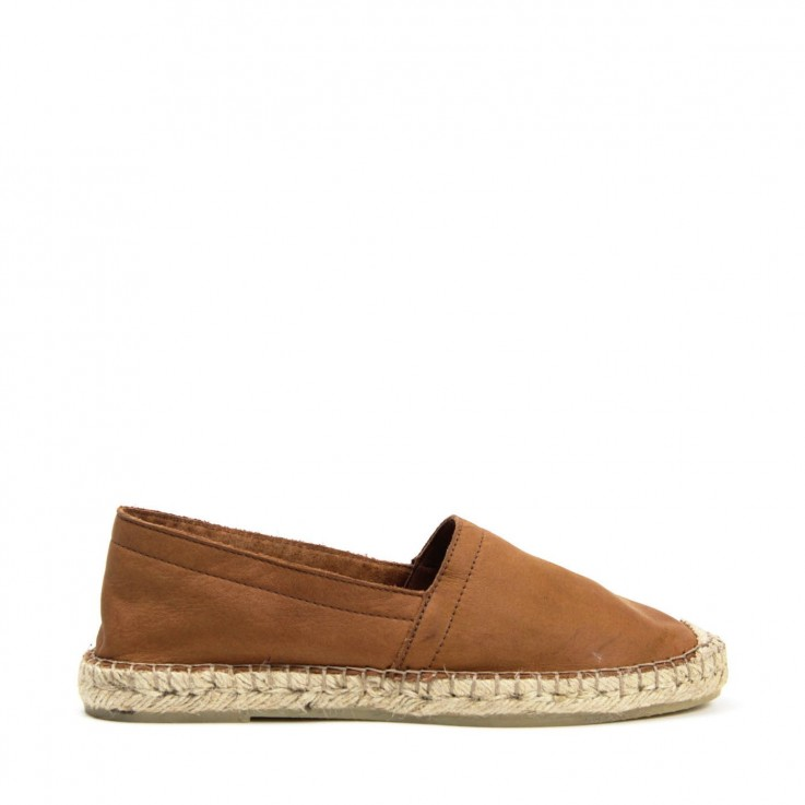 ESPA ESPADRILLE Tan Calf Leather