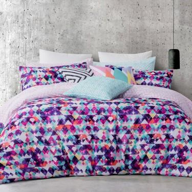 Mode Zahara Quilt Cover Set Multicolour