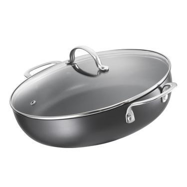 Saute Hard Anodised Saute Pan Grey 30 cm