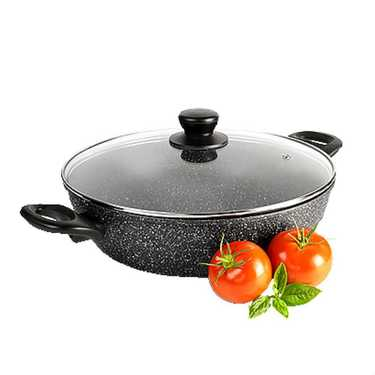 Equip Marble Saute Pan With Lid Grey 28
