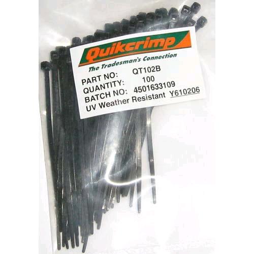 QUIKCRIMP QT102B  CABLE TIE 2.5x100MM