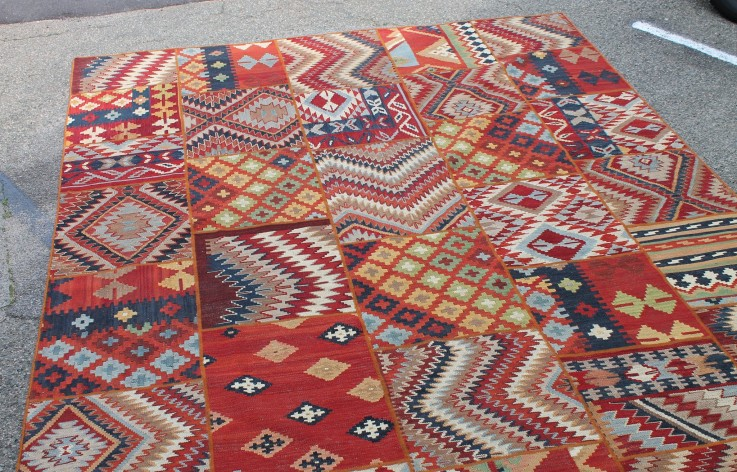 INDIAN KELIM DHURRIE WOOL RUG