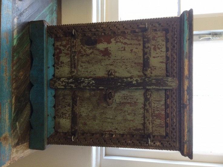 RUSTIC INDIAN WOODEN CABINET