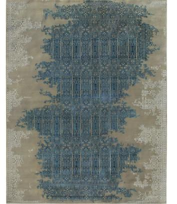 VINTAGE DISTRESSED HAND KNOTTED WOOL RUG