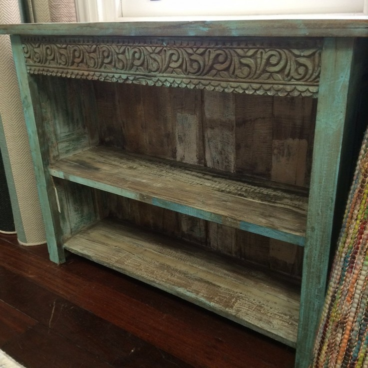 VINTAGE PAINTED BOOKSHELF/CABINET