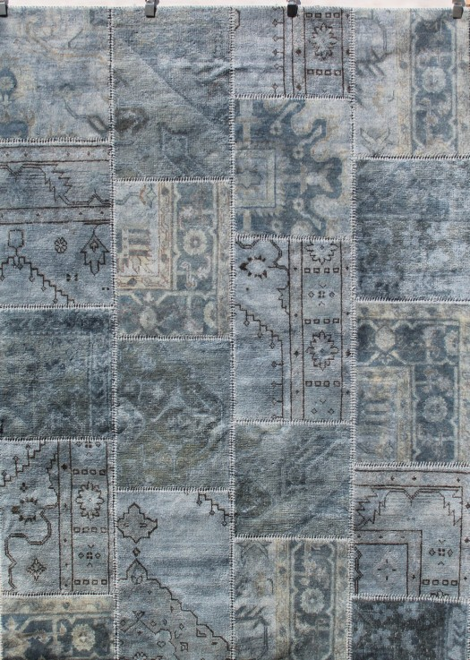 VINTAGE PATCHWORK OVERDYED WOOL RUG