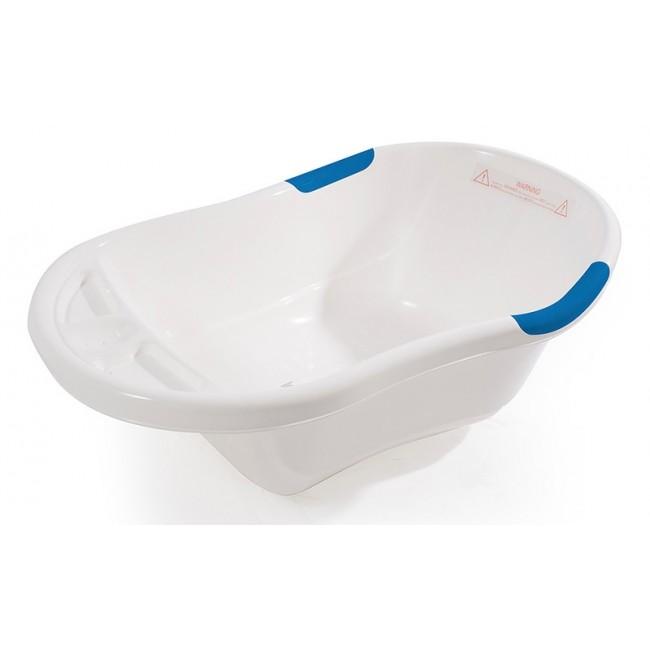 LNC Bath- White with Blue Trim