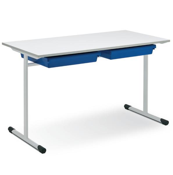 Eduflex Double Desk T Leg With Trays