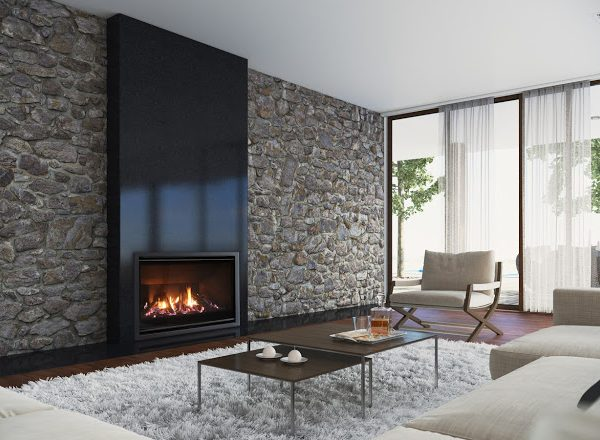 Escea DF960 Gas Log Fireplace (Stretch F