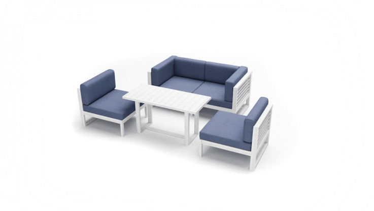 Monaco Casual Lounge Dining Sofa Setting