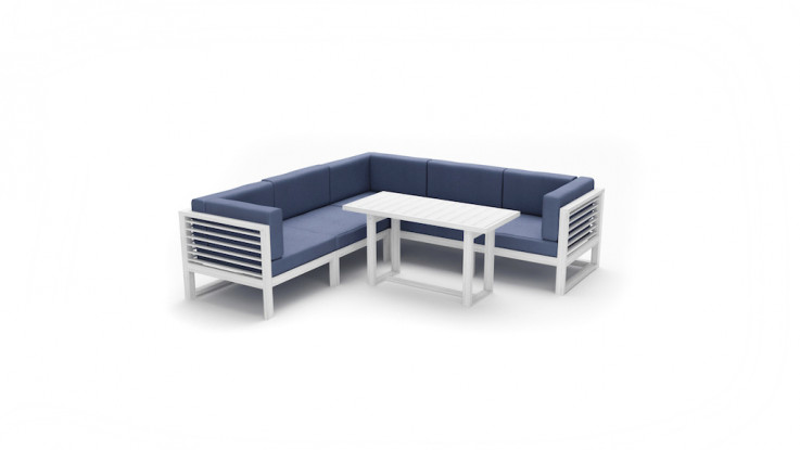 Monaco 6 Piece Lounge Dining Setting