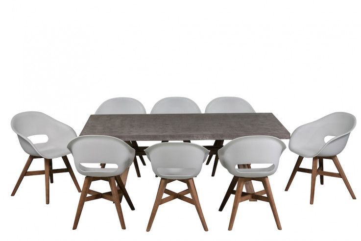 York 9 Piece All Weather Dining Setting